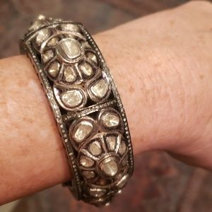Gorgeous Sterling and Diamond Bracelet Bangle